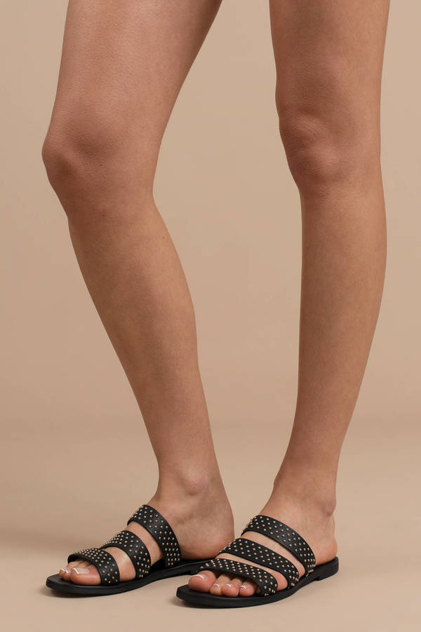 b1e922ded9e2 ... Sandals · Sol Sana Joaquin Leather Studded Slides · Sol Sana Sol Sana  Joaquin Black Leather Studded Slides ...