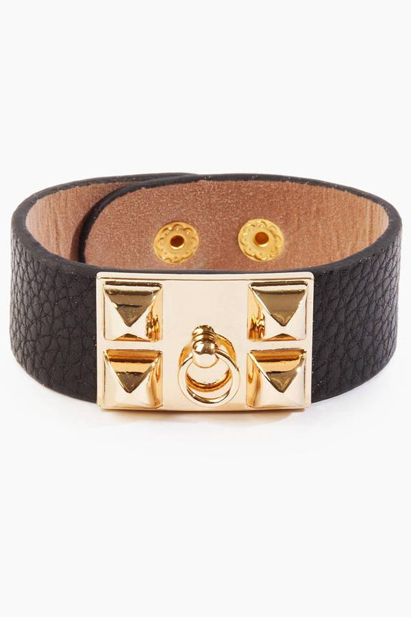 Leather Hardware Bracelet