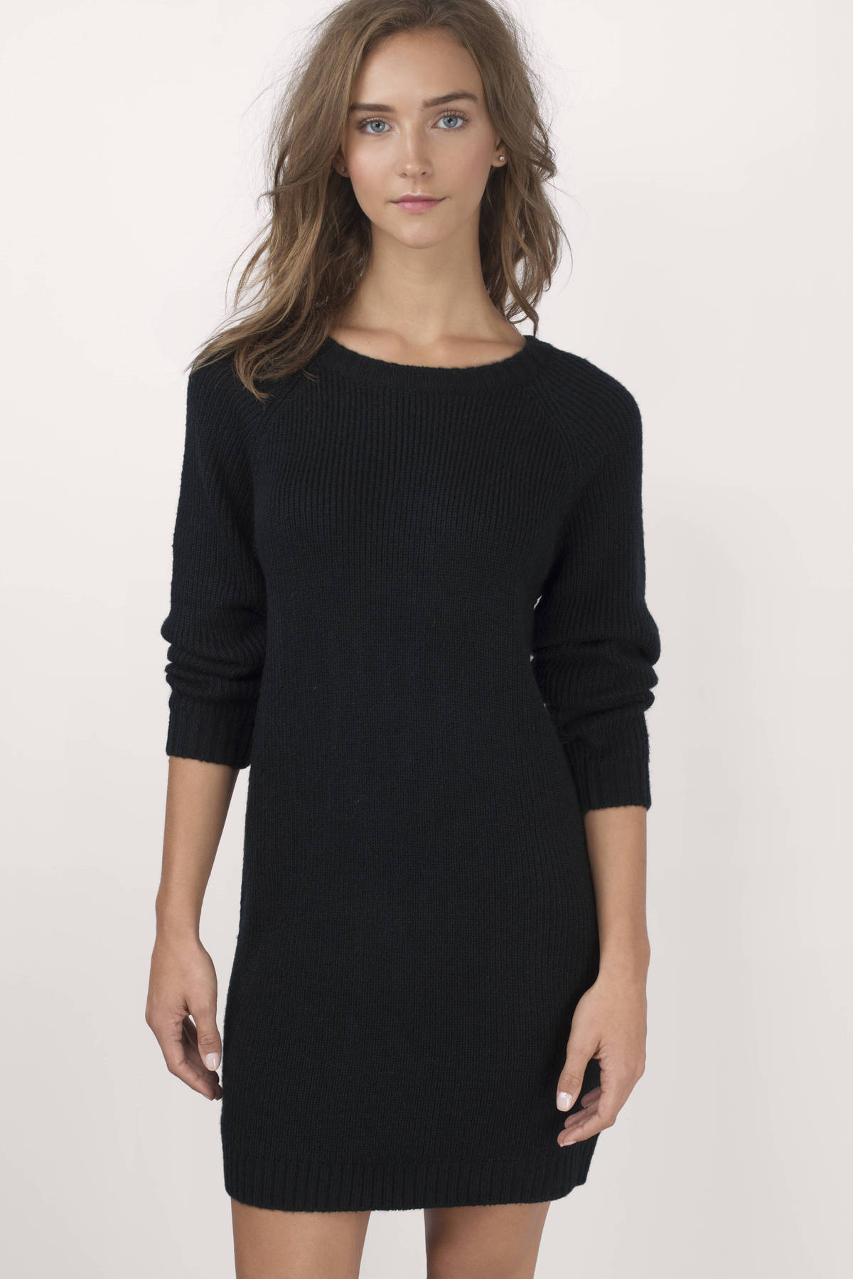 Black Sweater - Black Sweater - Long Sleeve Sweater - $28.00