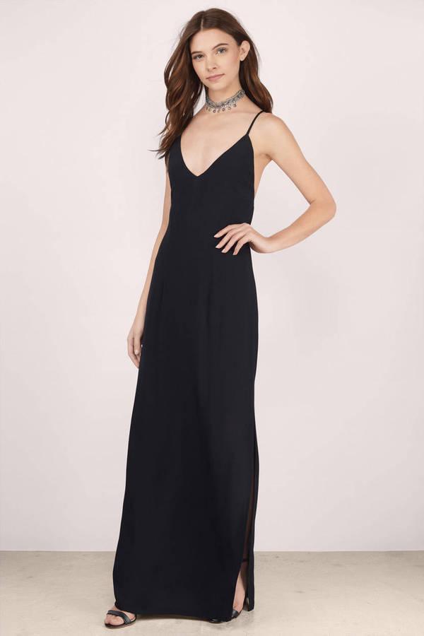 Sexy Black Maxi Dress Black Dress Tie Back Dress Maxi Dress