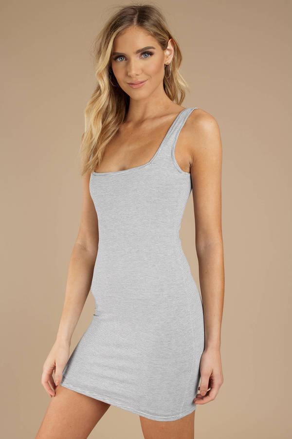 67af68435e Striped Dresses, Black, Look Alive Striped Bodycon Dress, ...