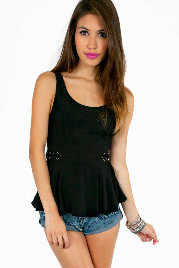 Lorraine Laced Side Tank Top