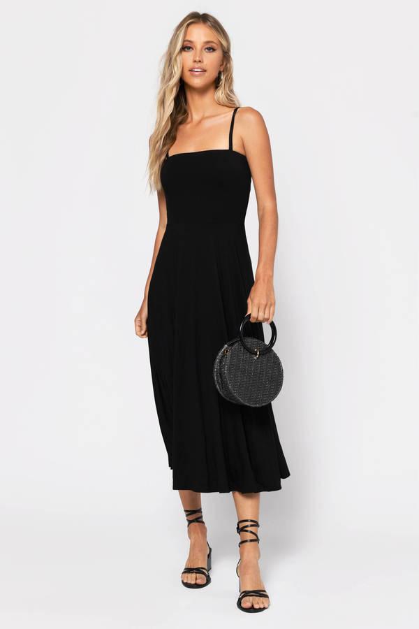 fd787a4526158 Midi Dresses | White Lace Midi Dress, Black Long Sleeve | Tobi