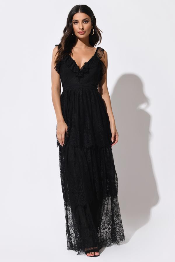 66e281866f Luna Peach 3-Tier Ruffle Lace Maxi Dress - AU$ 54 | Tobi AU