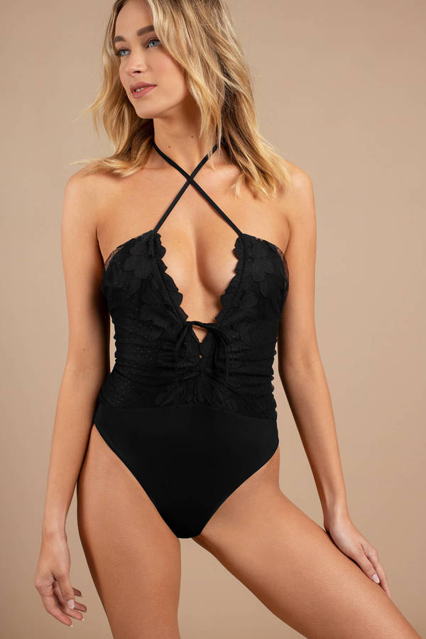 2815ed3add Designer Styles on Sale, Black, Magnolia Lace Up One Piece Swimsuit ...