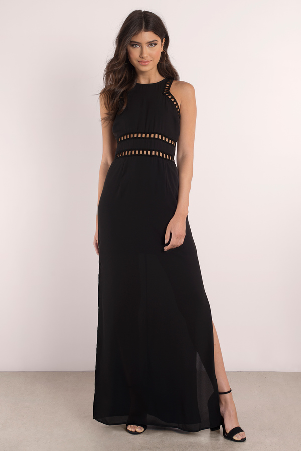 Cute Black Dress Bodice Dress Slit Dress Full Dress