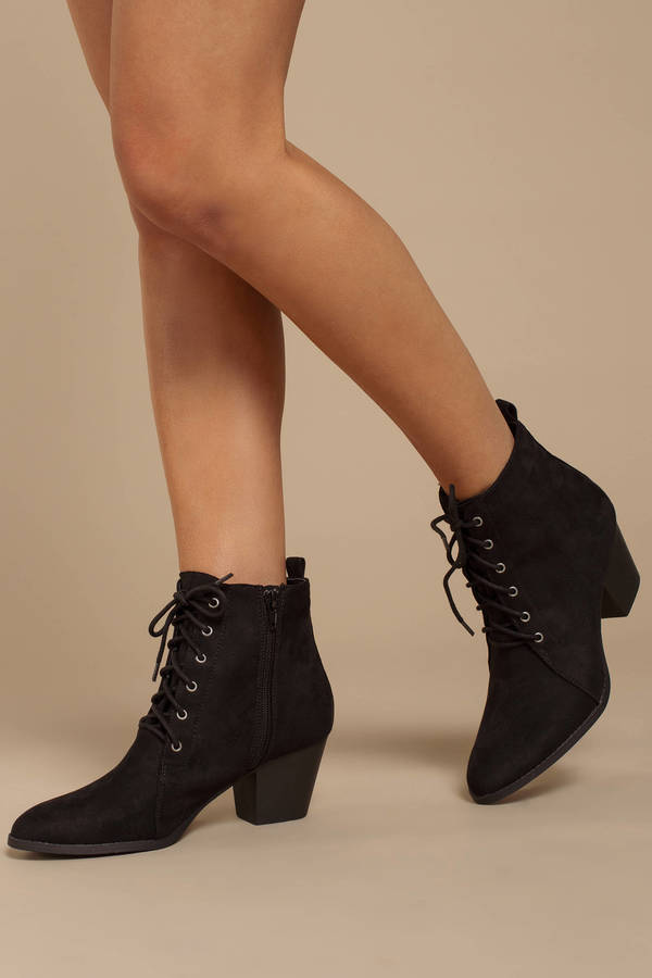 52c01348e304d Women's Ankle Boots & Booties | Black Booties, Short, Leather | Tobi