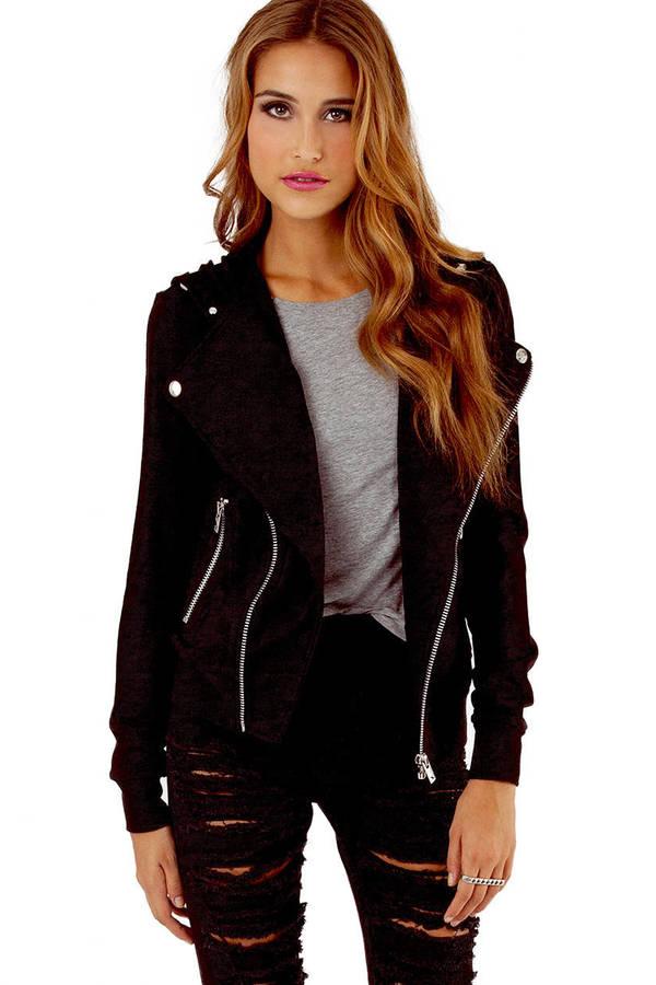 Tripp NYC Moto Hoody Sweater Jacket
