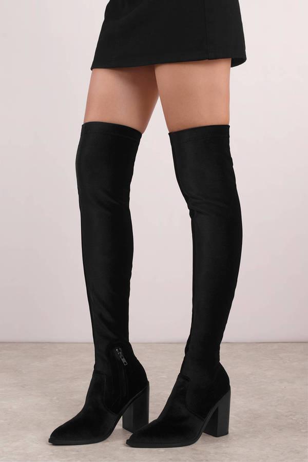 Sol Sana Natalie Black Knee High Boots 180 Tobi Us
