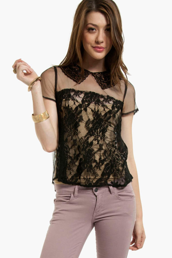 Lush Nothing to Hide Laced Top