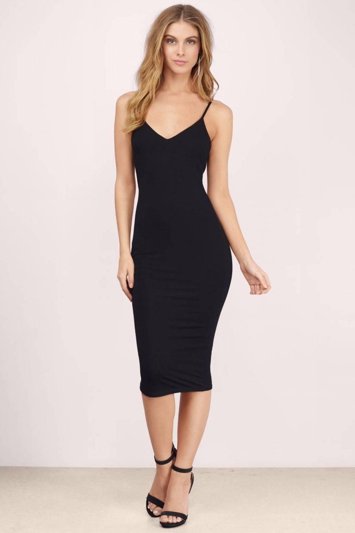 Sexy Taupe Bodycon Dress - Brown Dress - V Neck Dress - $66.00
