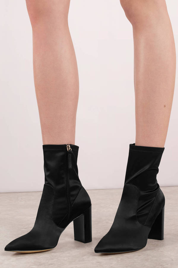 Black Chinese Laundry Boots - Pointy