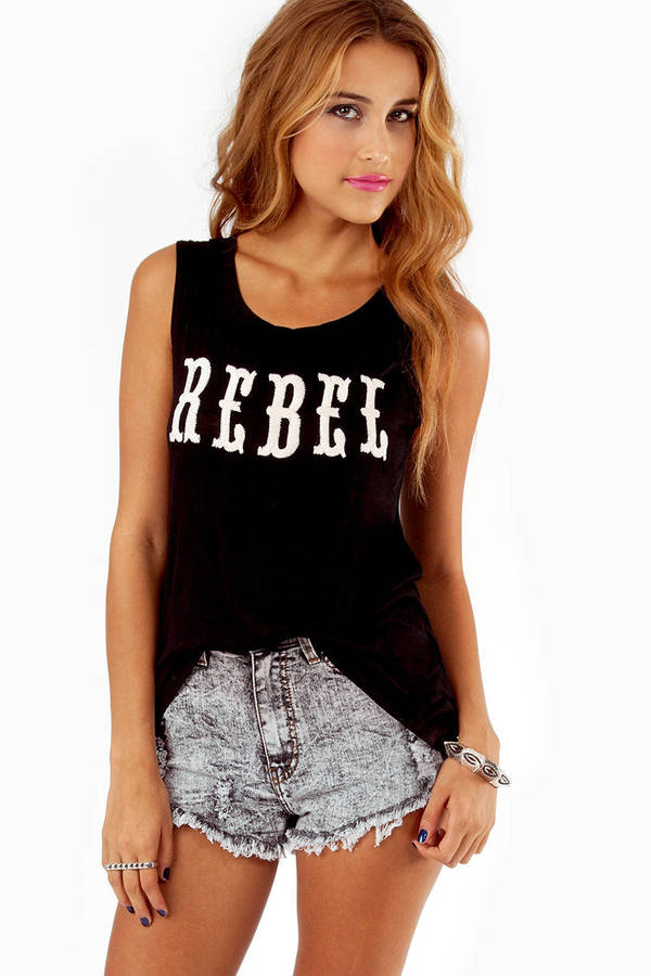 Rebel Embroidered Tank Top