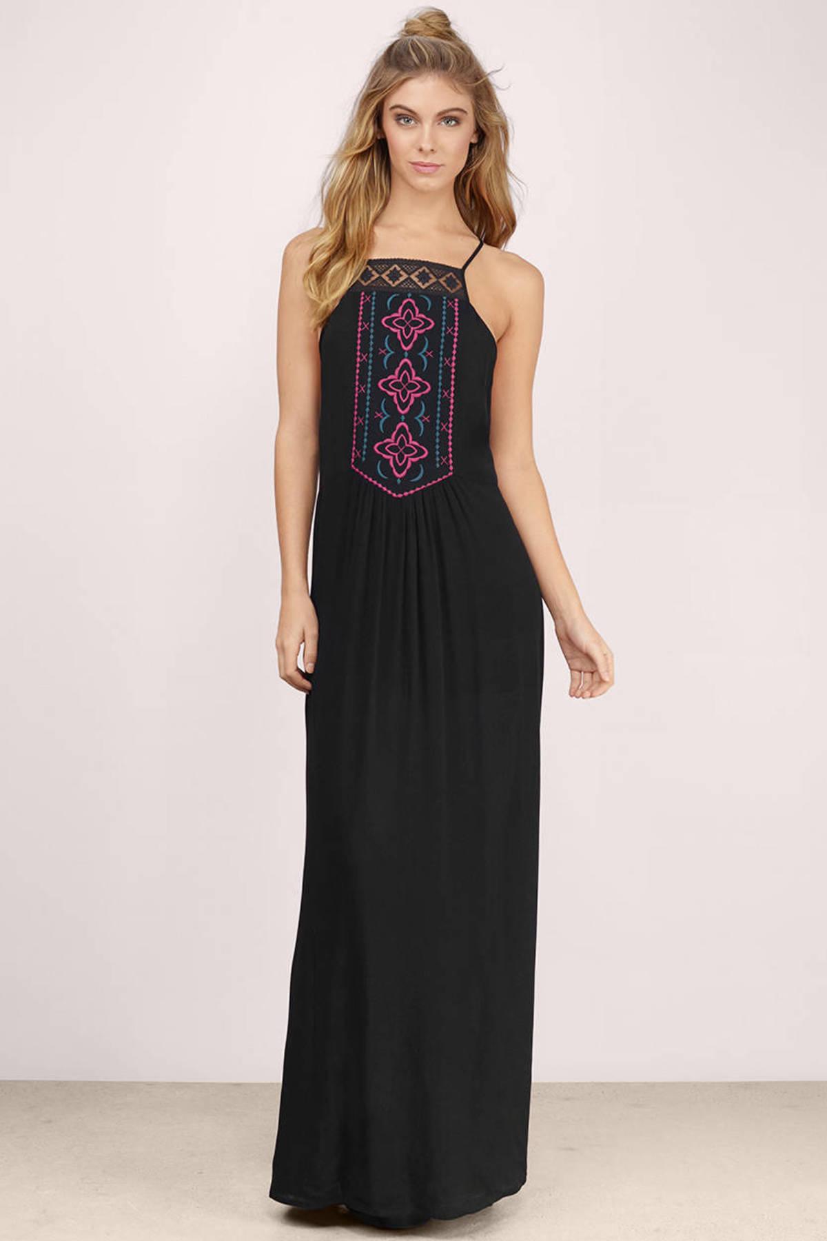 Cute Black Maxi Dress - Black Dress - Open Back Dress - $13.00