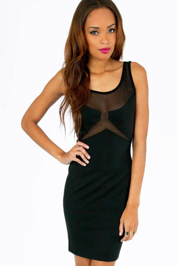 Glamorous Sheer Wonders Body Con Dress