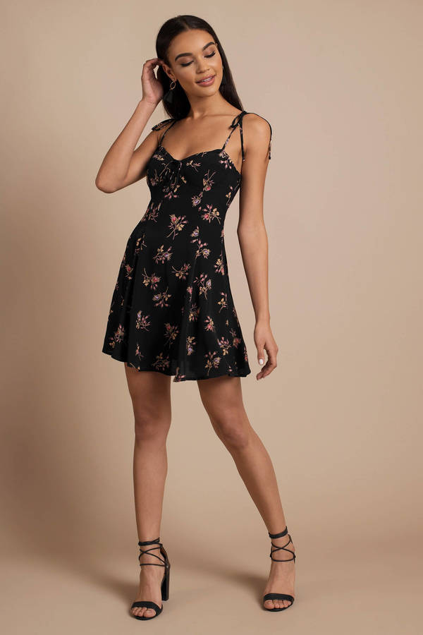 Summer Dresses, Black, Sienna Printed Corset Dress ...