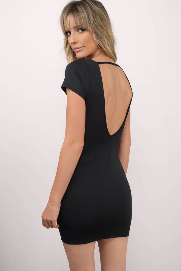 704e5890d5 Sexy Black Bodycon Dress - Low Back Dress - Bodycon Dress - € 16 ...