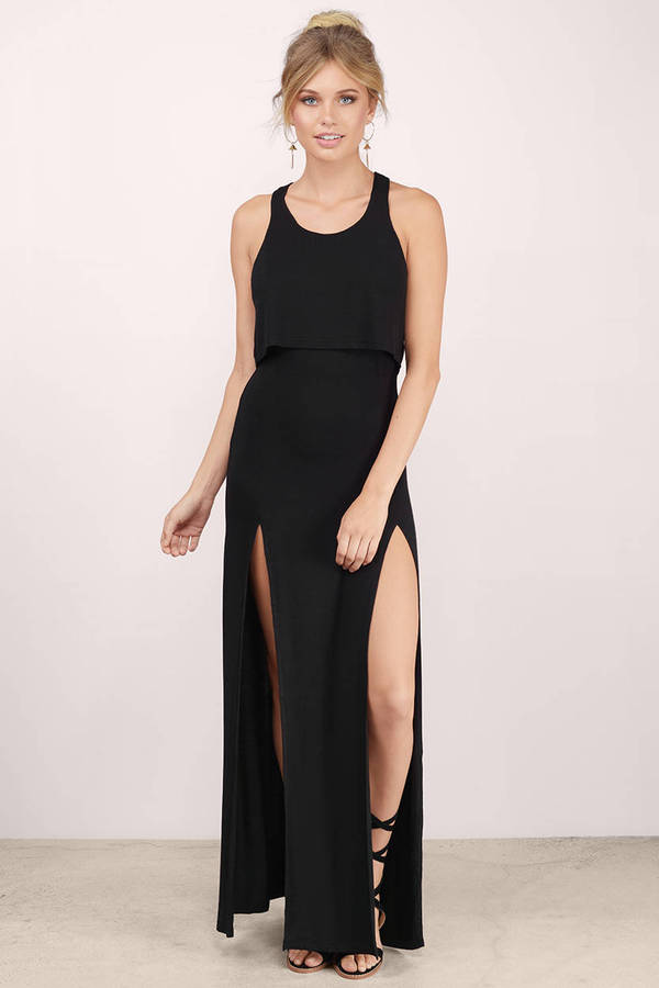 black dress with high slits sexy taupe maxi dress front slits dress maxi dress 9620