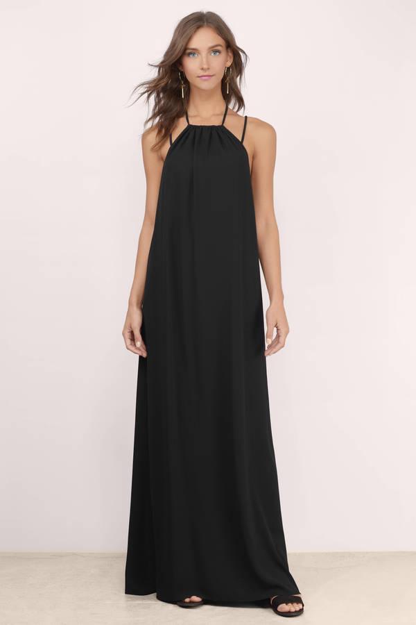 Cute Black Maxi Dress - Black Dress - Strappy Dress - $68.00