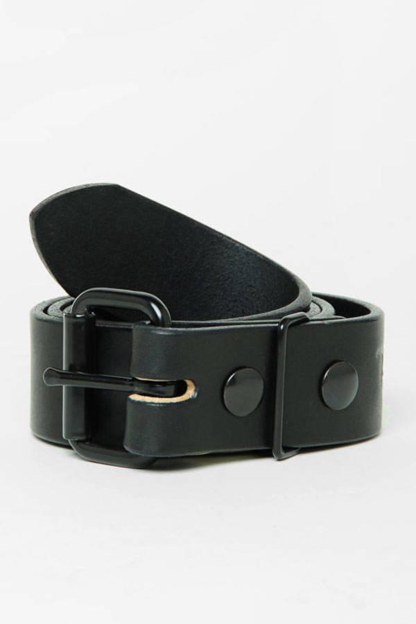 Tanner Goods Standard Matte Black Hardware Belt