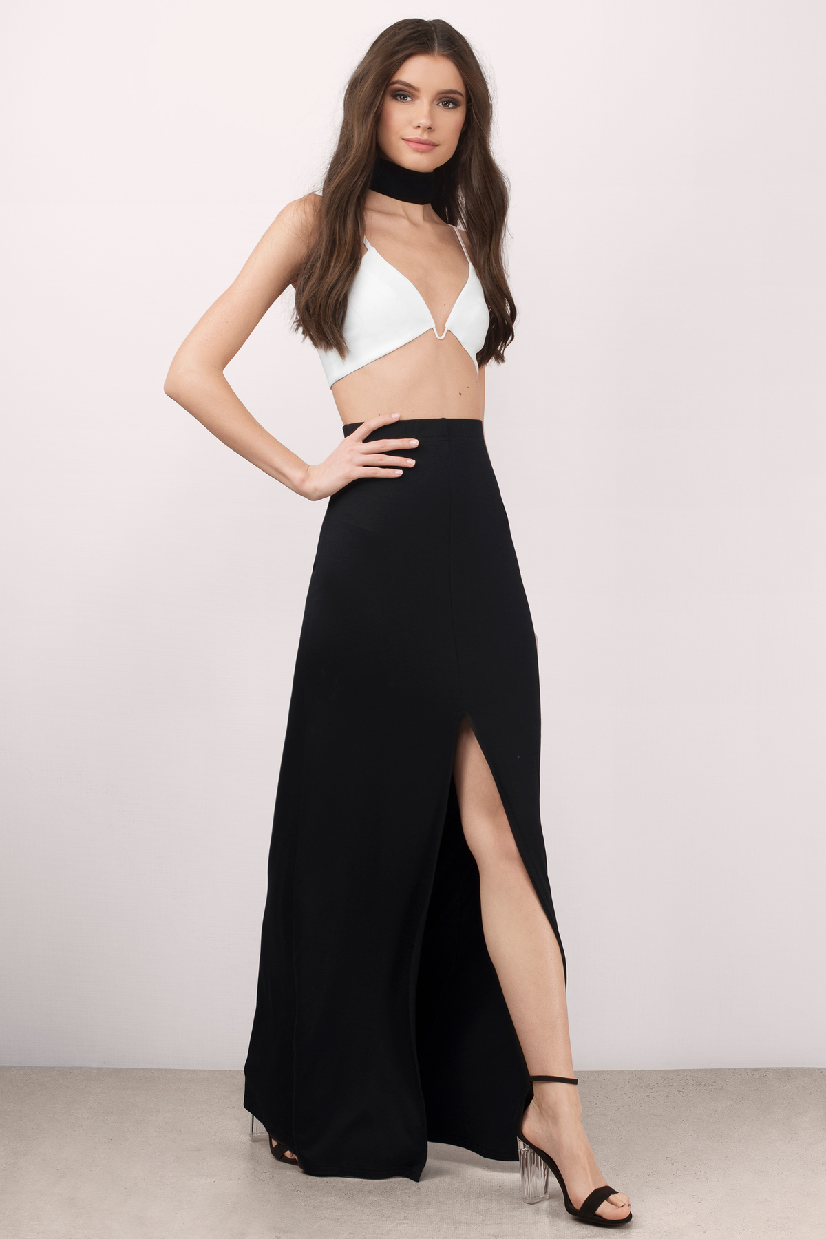 Sexy Black Skirt - Front Slit Skirt - Black Skirt - $52.00