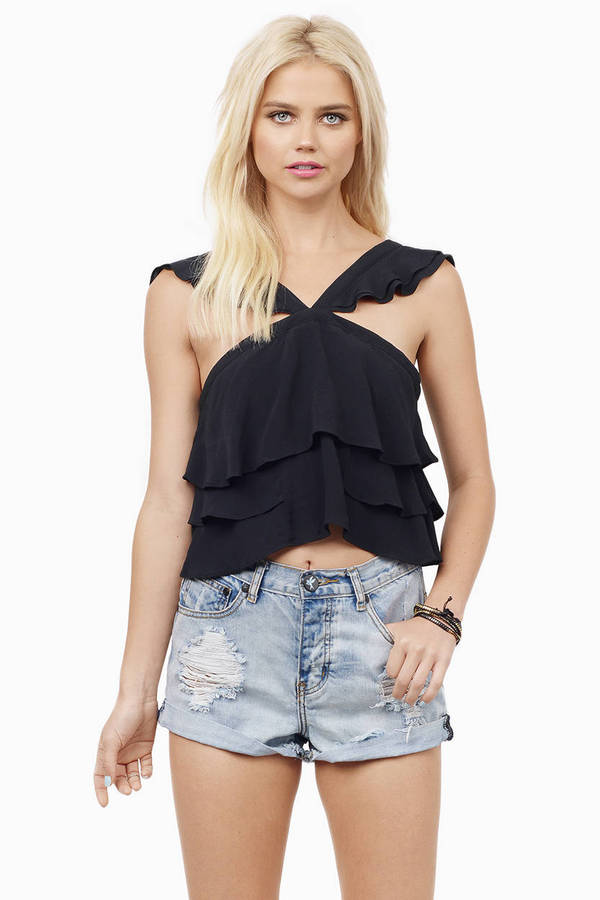 Sweet Ruffles and Truffles Top