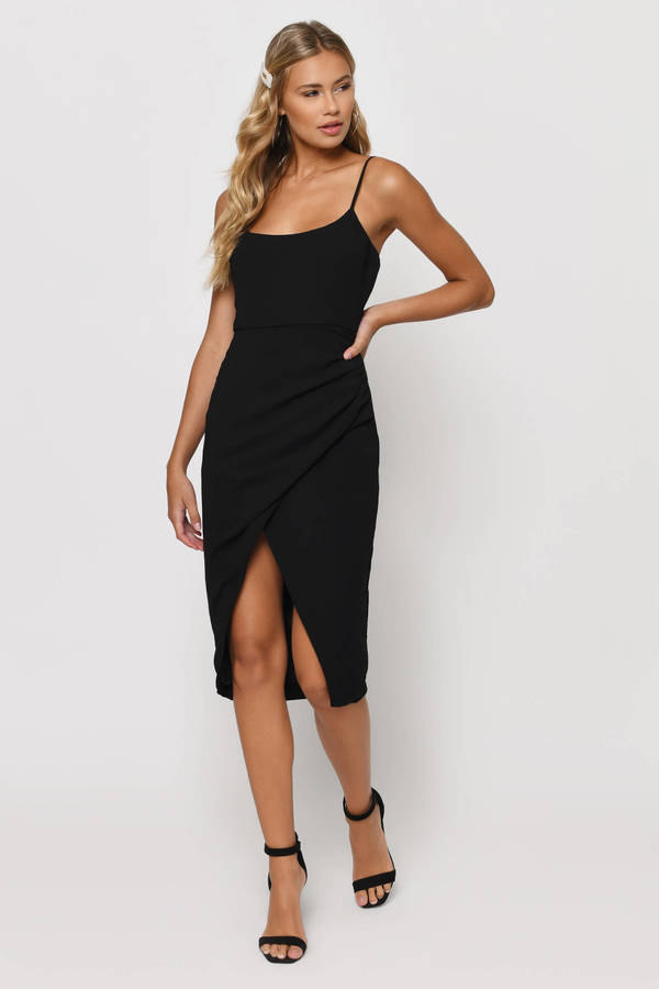 all black cocktail dress