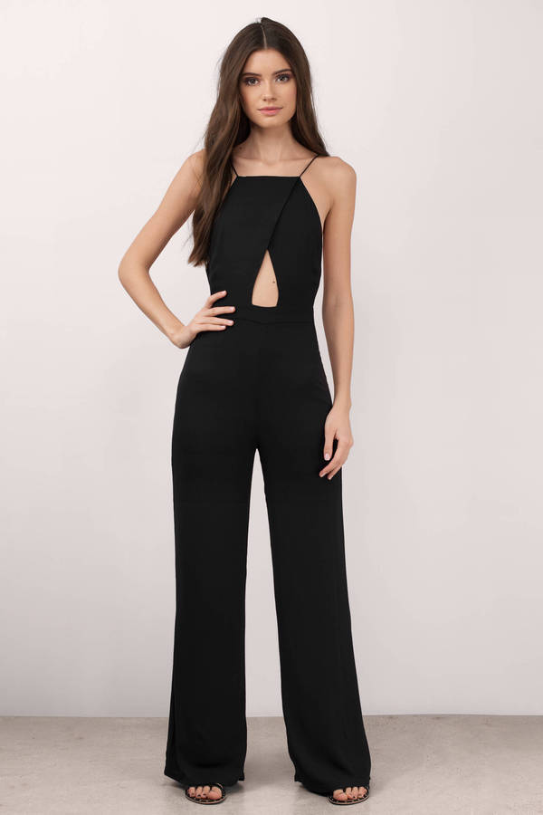 Trendy Black Jumpsuit - Keyhole Jumpsuit - $125.00
