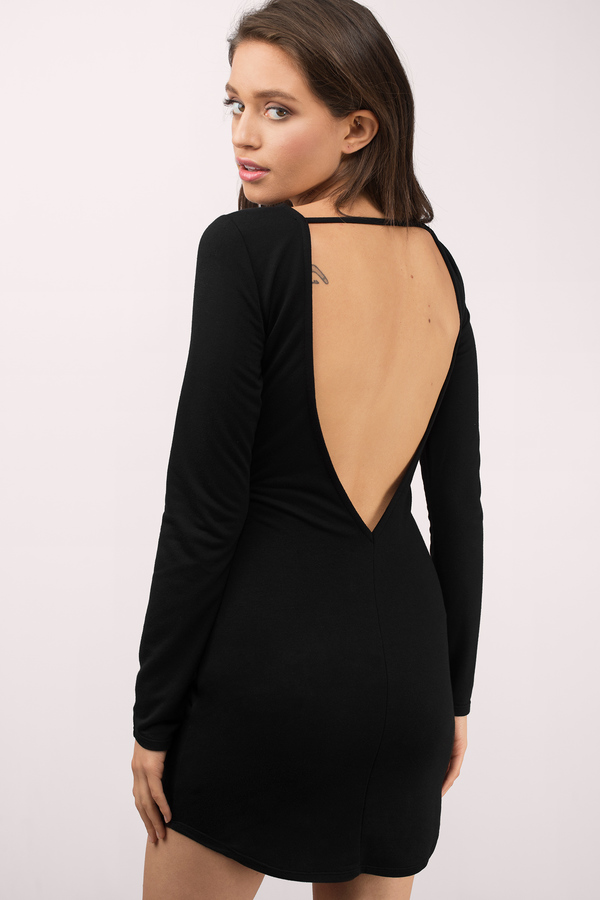 Black Short Dress Backless