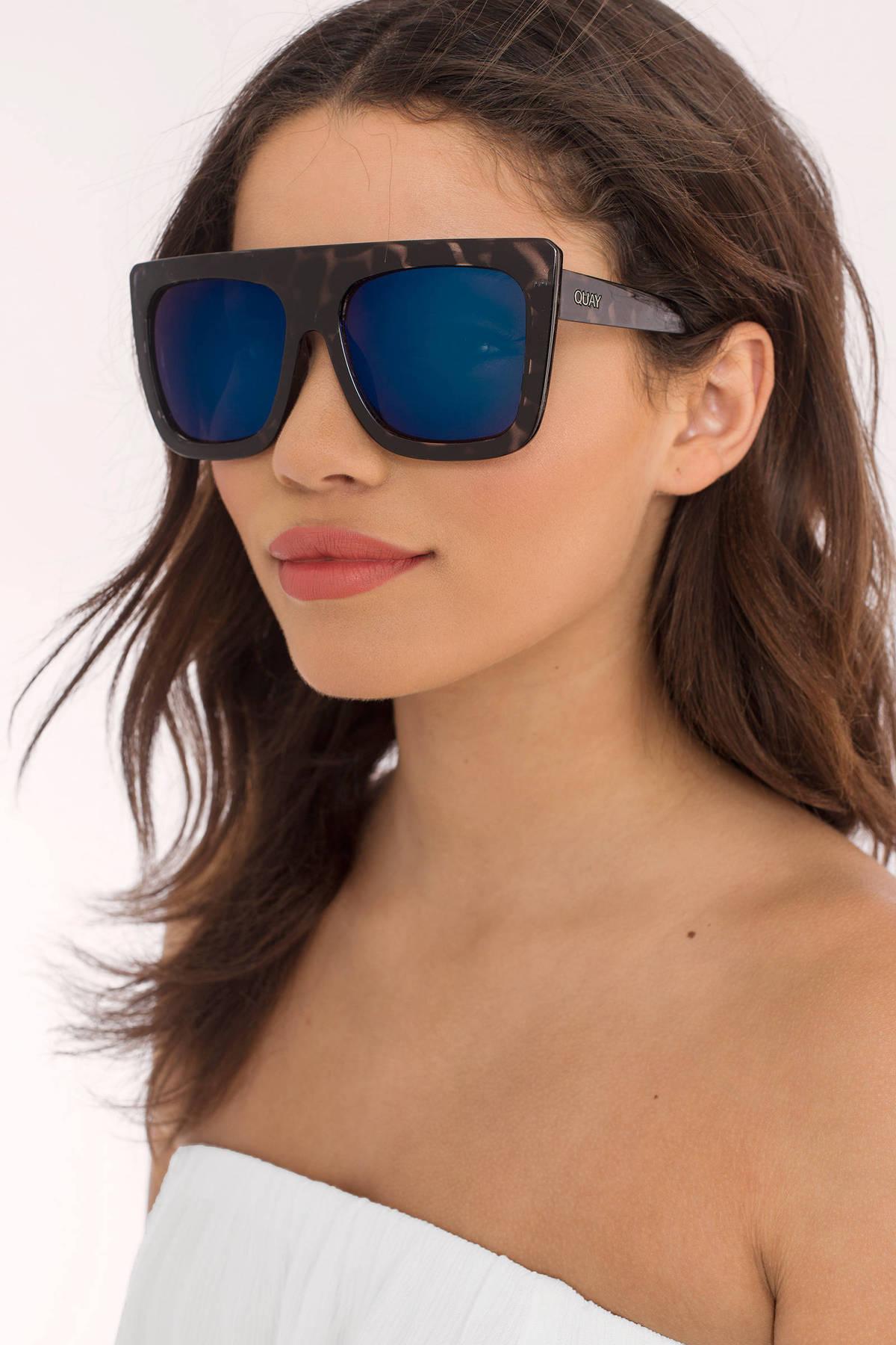833ef31c75 Quay Cafe Racer Black Tortoise Blue Oversized Sunglasses 5600 Tobi ...
