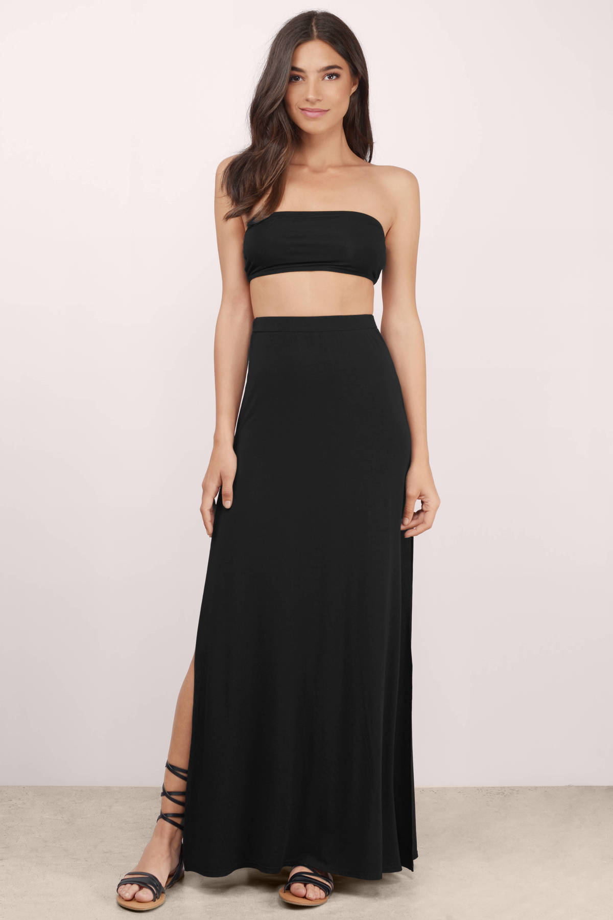 Black High Waisted Maxi Skirt