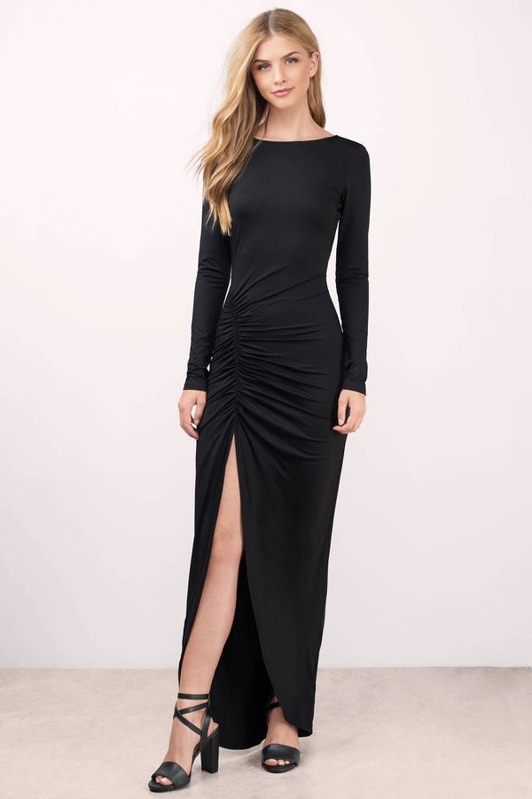 Sexy Black Dress Open Back Dress Black Modest Dress Maxi Dress