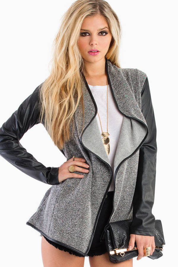 Jack BB Dakota Jann Draped Cardigan Jacket