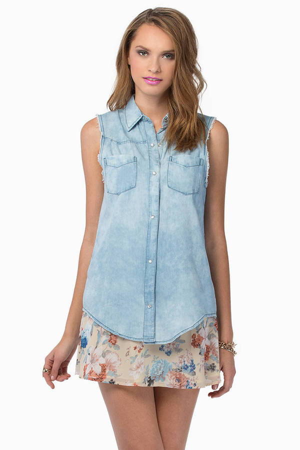 Sun Bleached Denim Shirt