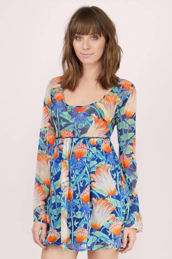 Floral Dresses  Long Flower Dresses Floral Print Maxi Dresses  Tobi
