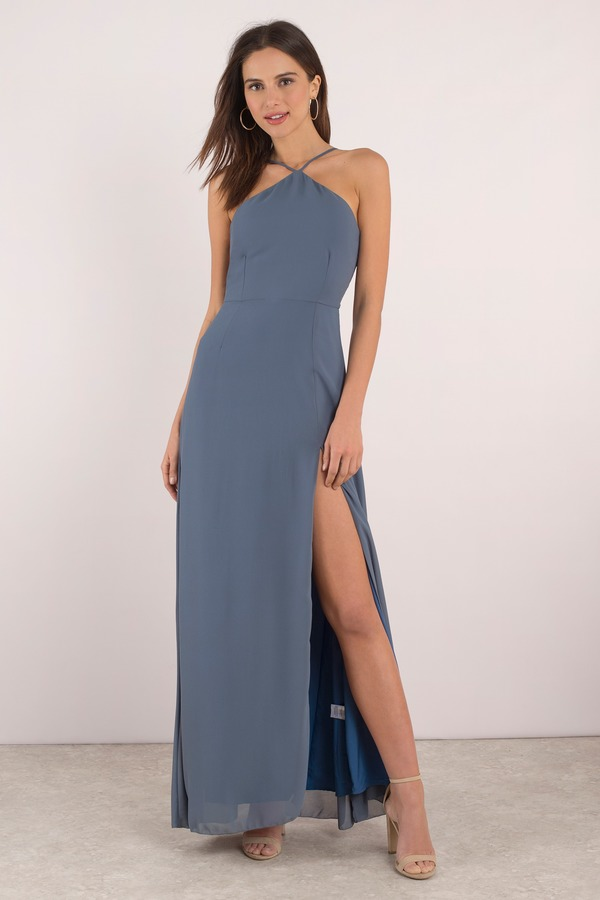 Rise Above Light Blue Lace Up Maxi Dress - $46 | Tobi US