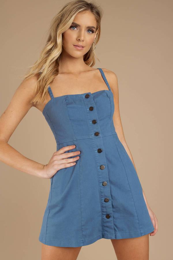 e295513a4fdd8 Denim Dresses | Denim Shift Dress, Denim Mini Dress | Tobi