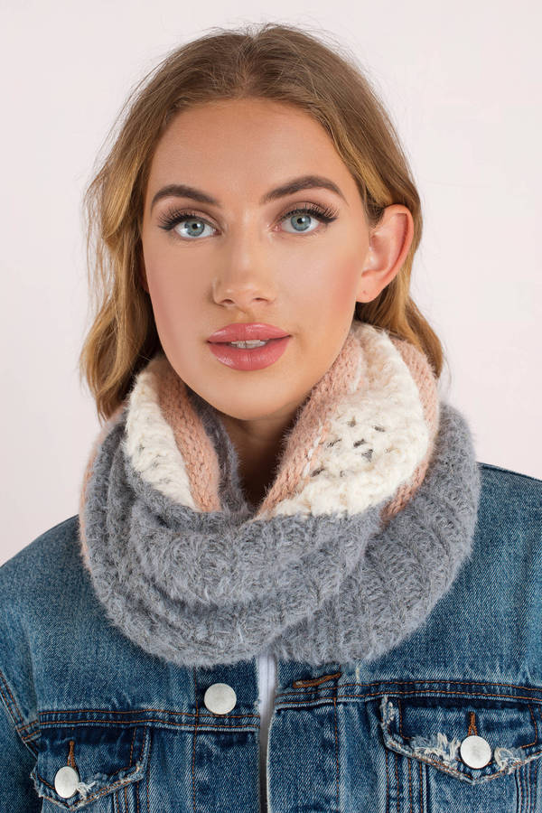 Arielle Navy Knit Circle Scarf 6 Tobi Us