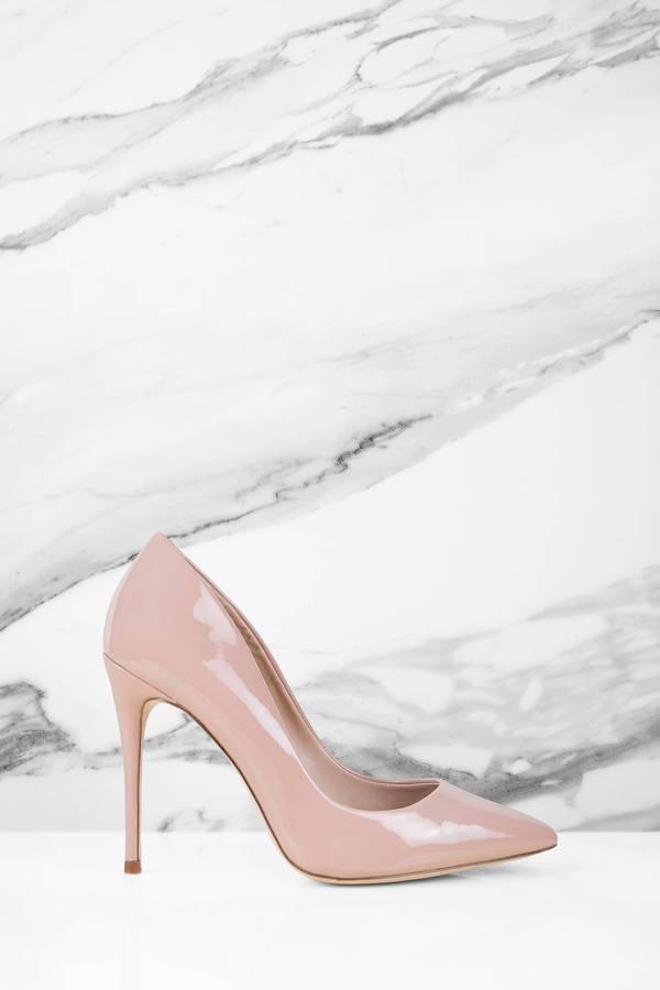 db39e9e799c Blush Pink Steve Madden Heels - Designer Pumps - Blush Pink Leather ...