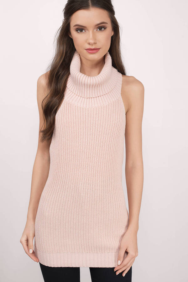 7256f11b3483 Turtleneck Sweater - Pink Cowl Neck Sweater - Blush Sweater - 183 kr ...