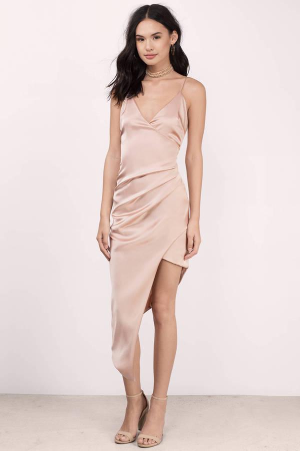 Blush Wrap Dress - Pink Dress - Surplice Dress - $82.00
