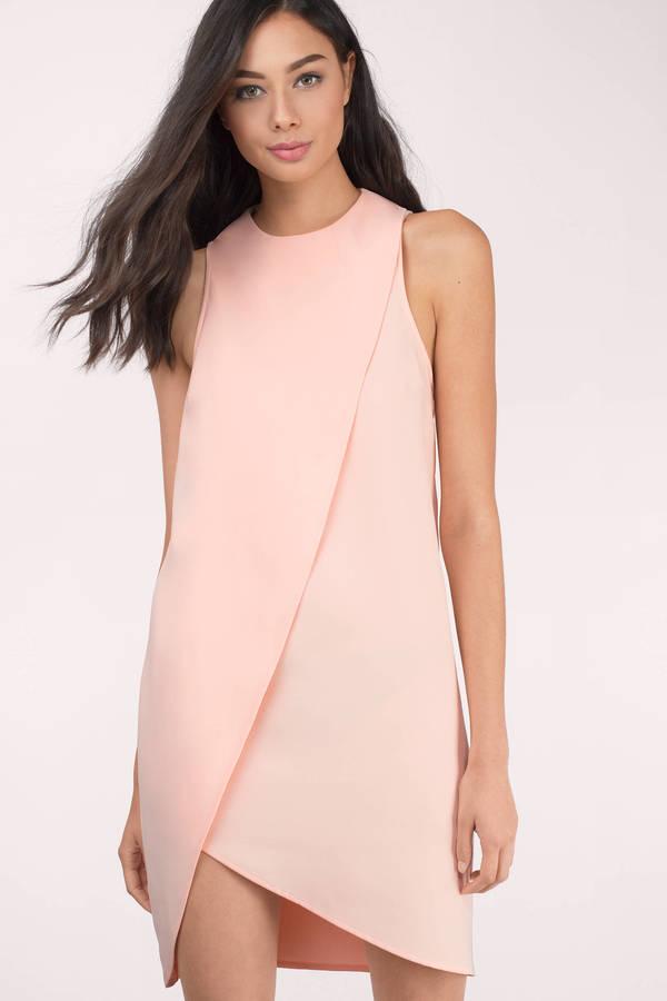 Cute Black Shift Dress - Mock Neck Dress - Shift Dress - $58