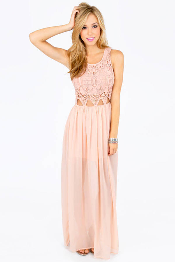 Missa Crochet Maxi Dress