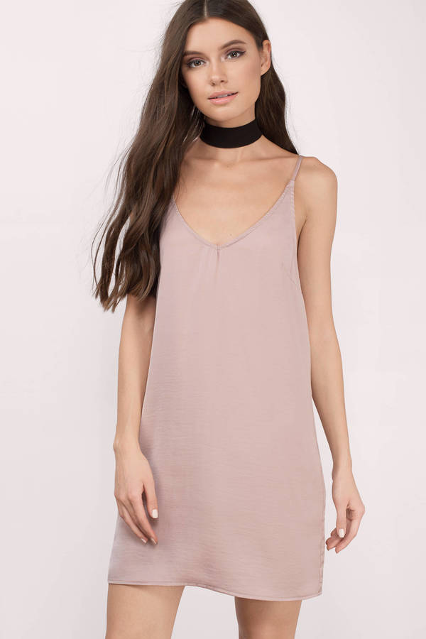 ad6318972b98b Cute Blush Shift Dress - Sleeveless Dress - Shift Dress - € 20 | Tobi NL