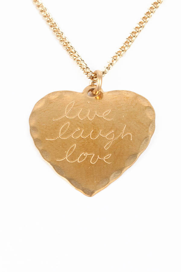 In God We Trust Sweet Nothings Necklace - Live Laugh Love