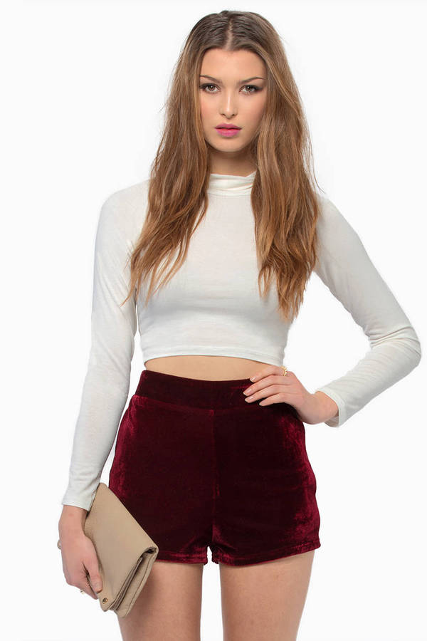 Infatuation Velour Shorts