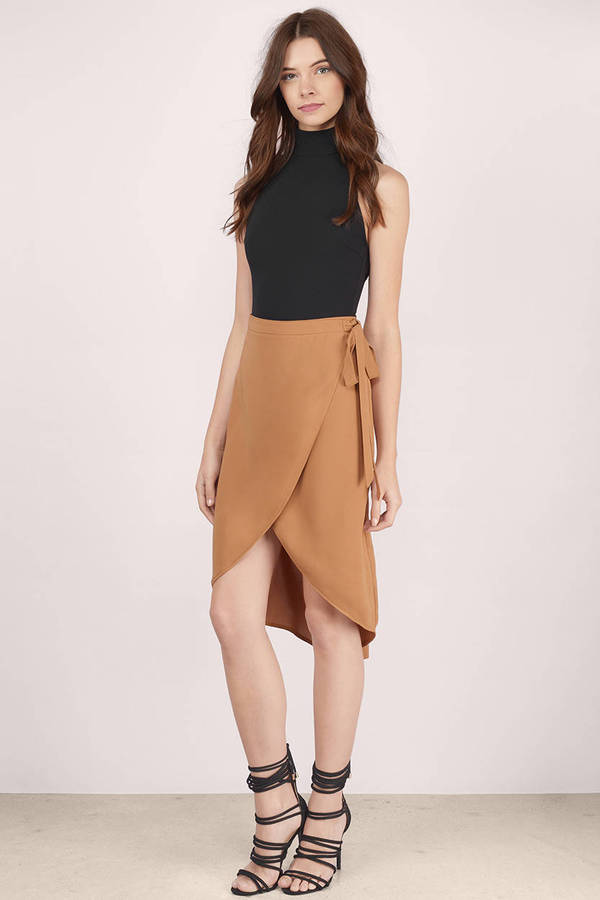 Cute Camel Skirt - Brown Skirt - Midi Skirt - $48.00