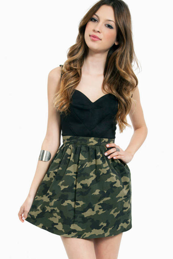 Blending In Skater Skirt