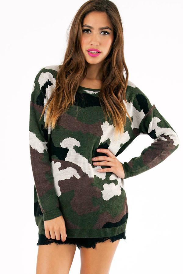 G.I. Jen Camo Sweater