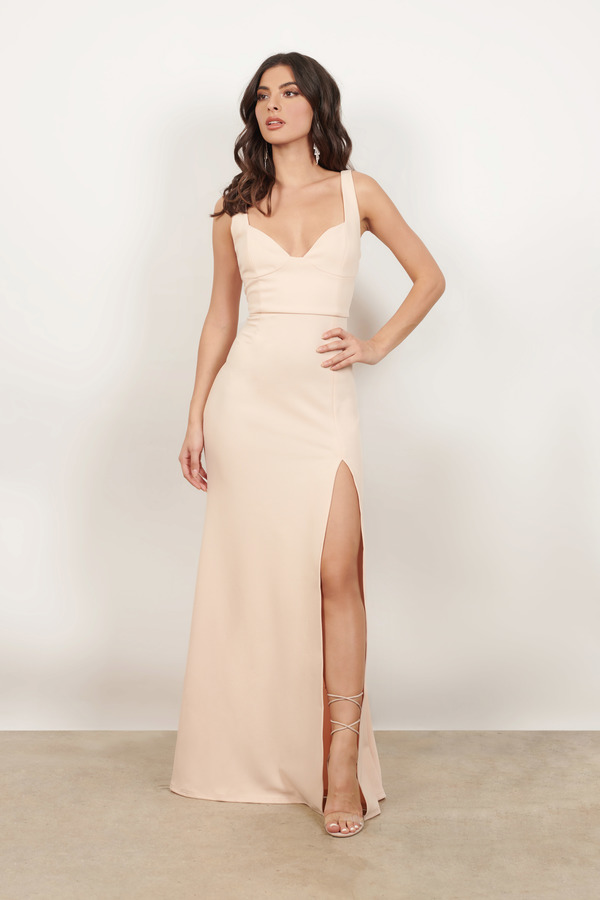 Maxi Dresses Champagne Ever Mine High Dress